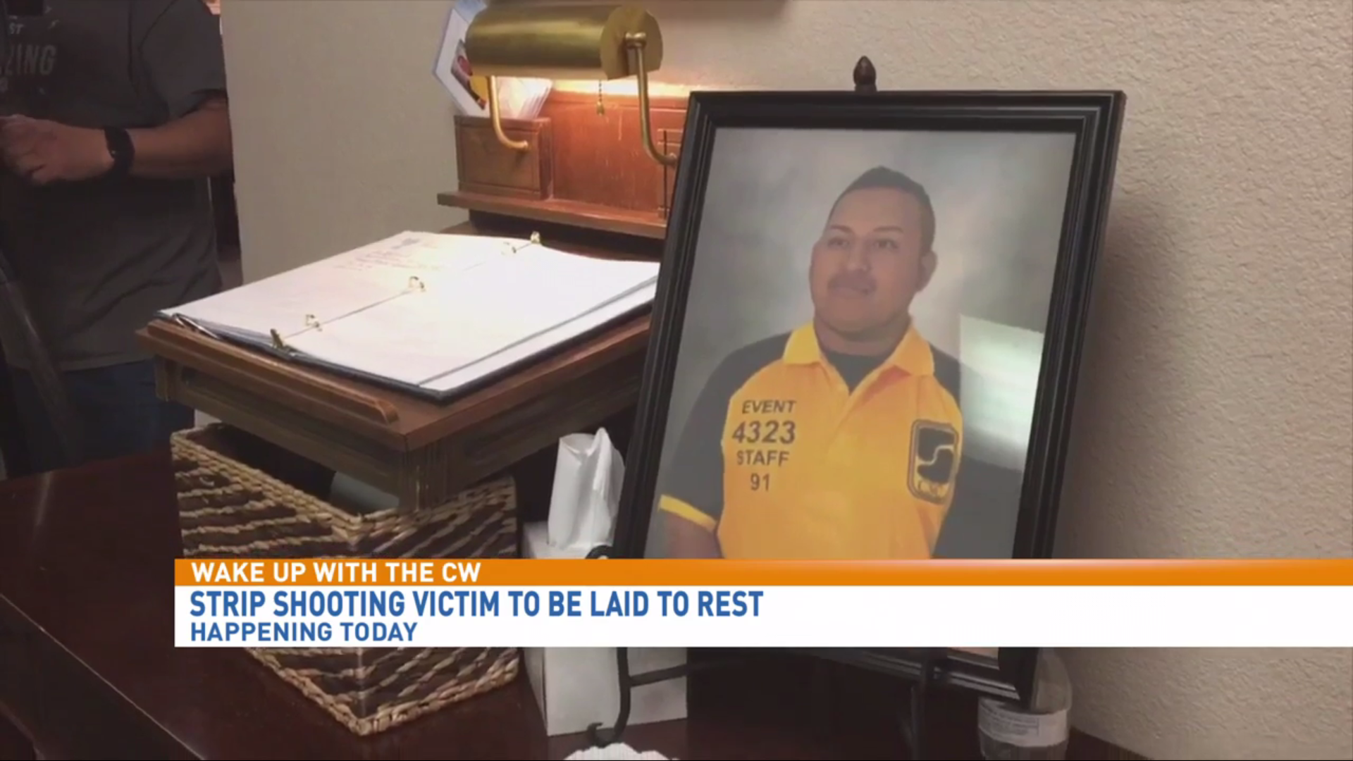 Hundreds pay respects at the funeral for Erick Silva, a security guard killed in the Las Vegas Strip shooting. (KSNV file)