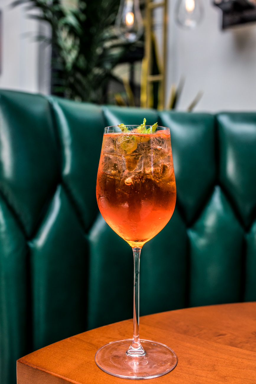 Taft Toast: Aperol, prosecco, watermelon, and mint / Image: Catherine Viox // Published: 6.22.20