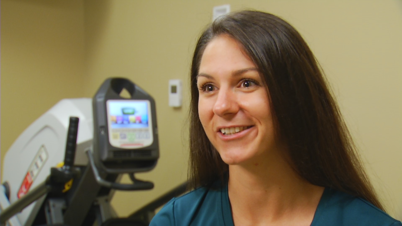 Cassy Scott is an exercise specialist at Mission Weight Management. (Photo credit: WLOS staff)<p></p>