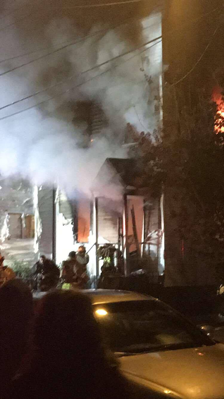 Crews battle house fire on Banklick Street in Covington (Jennifer Nicole)