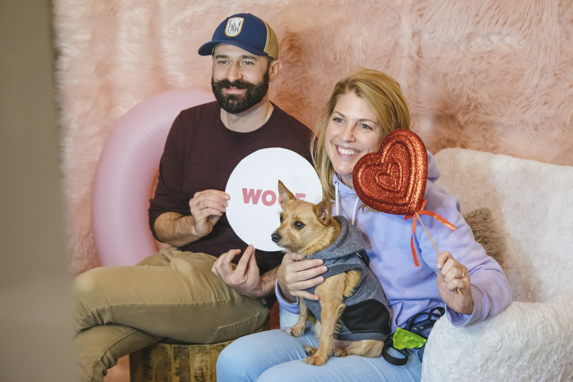 We told you about it last week - and you were AMPED: Snugglefest 2019 at the Kimpton Alexis Hotel! Pets and owners alike braved the weather to trek down to enjoy Valentine's treat, a doggy playground, a snuggle corner and tons of giveaways. Rover's Snugglefest celebrated the power of Dog Love - something we can get behind! (Image: Sunita Martini / Seattle Refined){ }