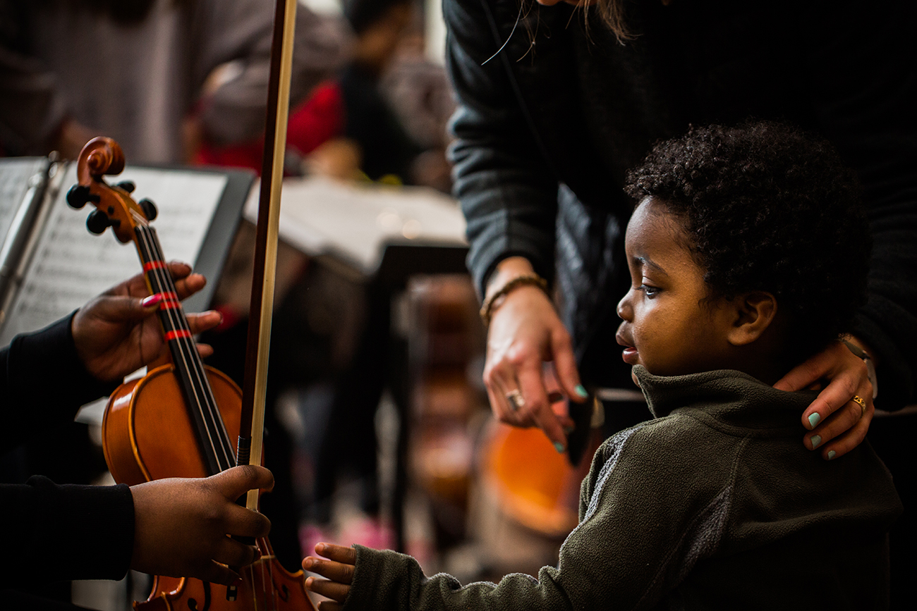 The MYCincinnati youth orchestra performed at the National Underground Railroad Freedom Center for Freedom Celebration, one of six signature campaign events comprising 2019's ArtsWave Days, brought to you by Macy's. / Image: Bergette Photography