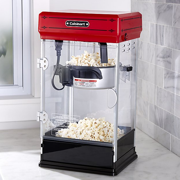 Cuisinart ® Red Popcorn Maker ($79.95). Find on crateandbarrel.com. (Image: Crate & Barrel)