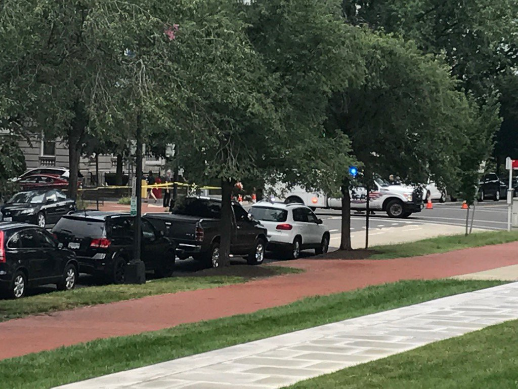 Two people were injured in crash, vehicle investigation leads to road closures on Capitol Hill.  Monday, July 17, 2017 (Stephen Tschida/ABC7)