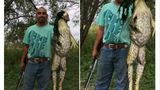 Man who caught giant bullfrog says picture is no hoax