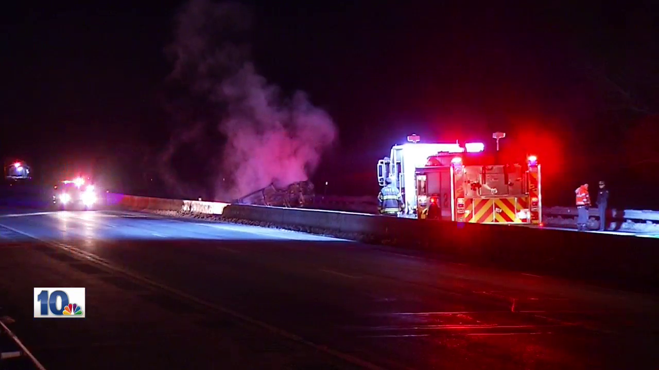 A fiery crash involving multiple vehicles shuts down a section of Route 4 in North Kingstown.