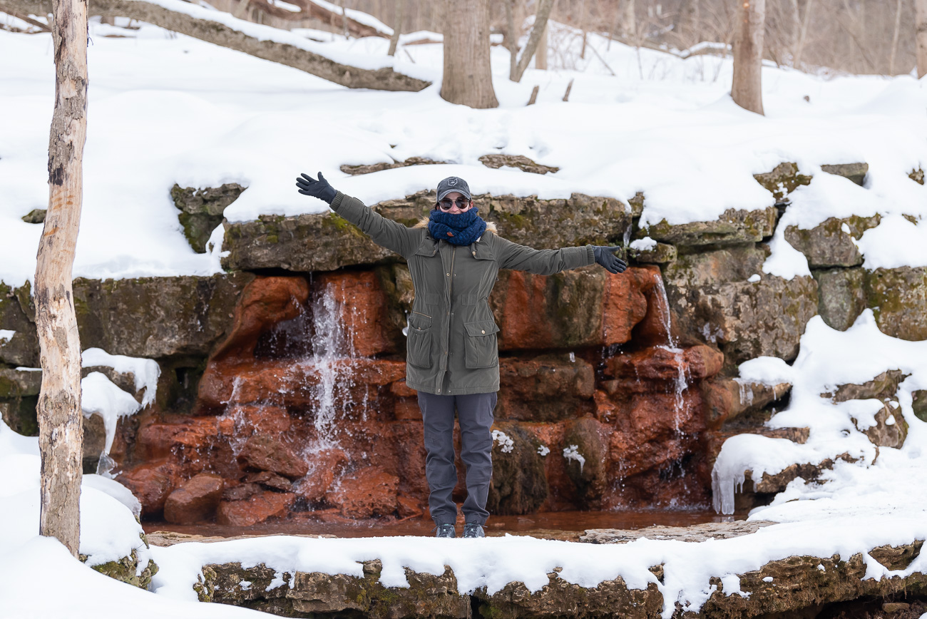 Among the most notable natural features is the yellow spring that's rich in iron ore, giving the rocks around the spring a yellow hue. Nearby Yellow Springs, a village with a modest population that's known for its culture and large arts community, takes its name from this same natural spring. / Image: Mike Menke // Published: 2.22.21