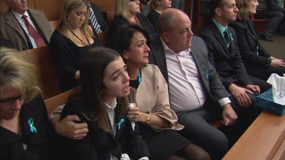 Reagan Tokes' family cried as a judge read the guilty verdict for Brian Golsby on all counts and specifications in her murder. (WSYX/WTTE)