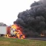 Tractor trailer goes up in flames on the Capital Beltway in PG County