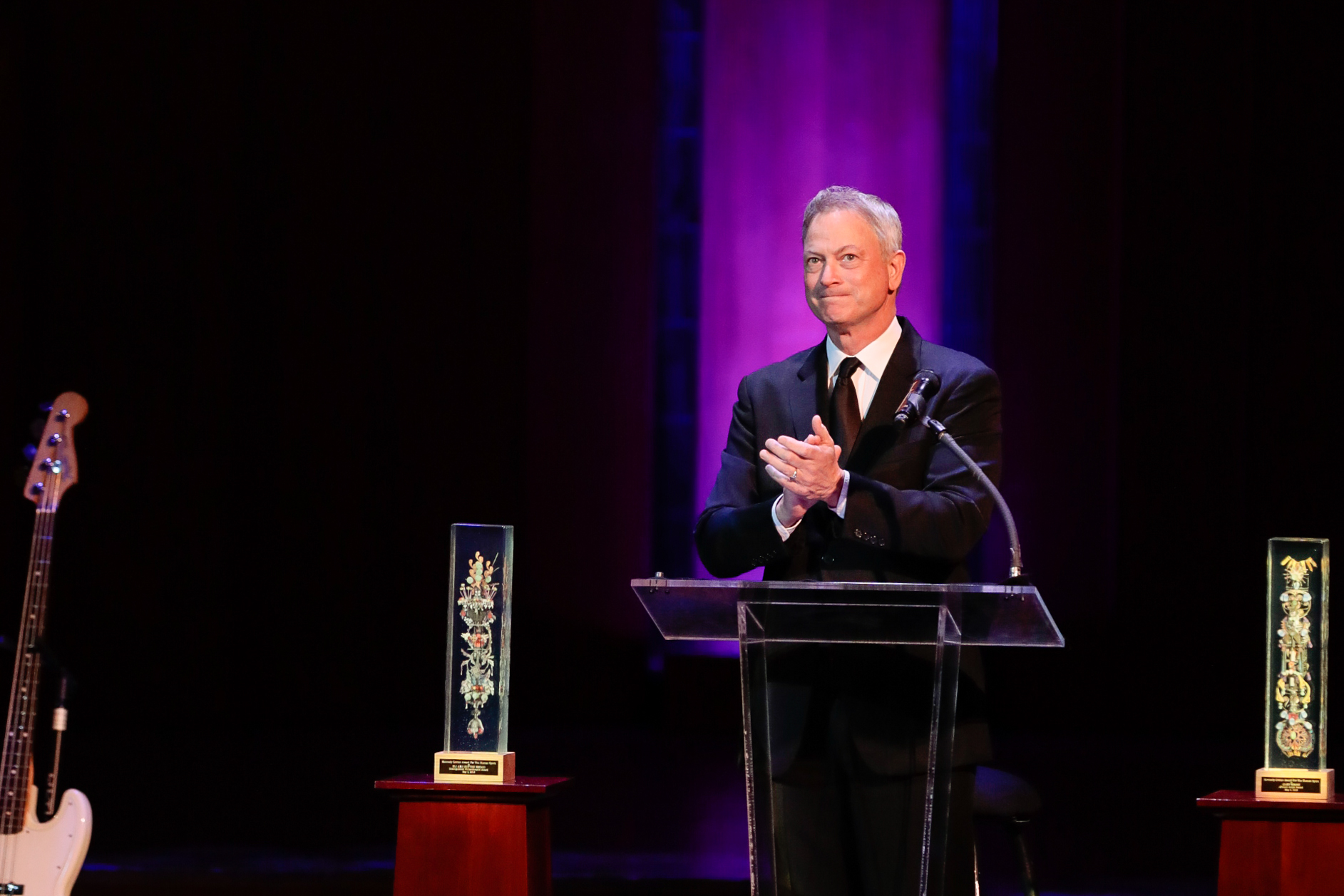 "Actor Gary Sinise was honored with a Human Spirit Award as a citizen artist for his work honoring all of our nation's servicemembers and defenders. . ""When you travel the world like I have and stand in places that don't even really know what freedom is, you value your own freedom even more."" (Image: Yassine El Mansouri for the Kennedy Center)"