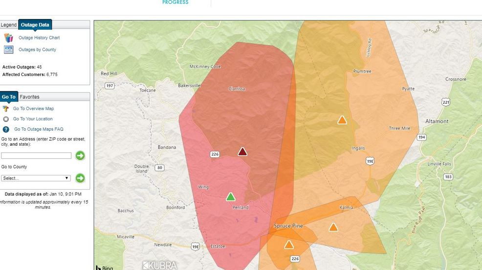 on duke power outage map