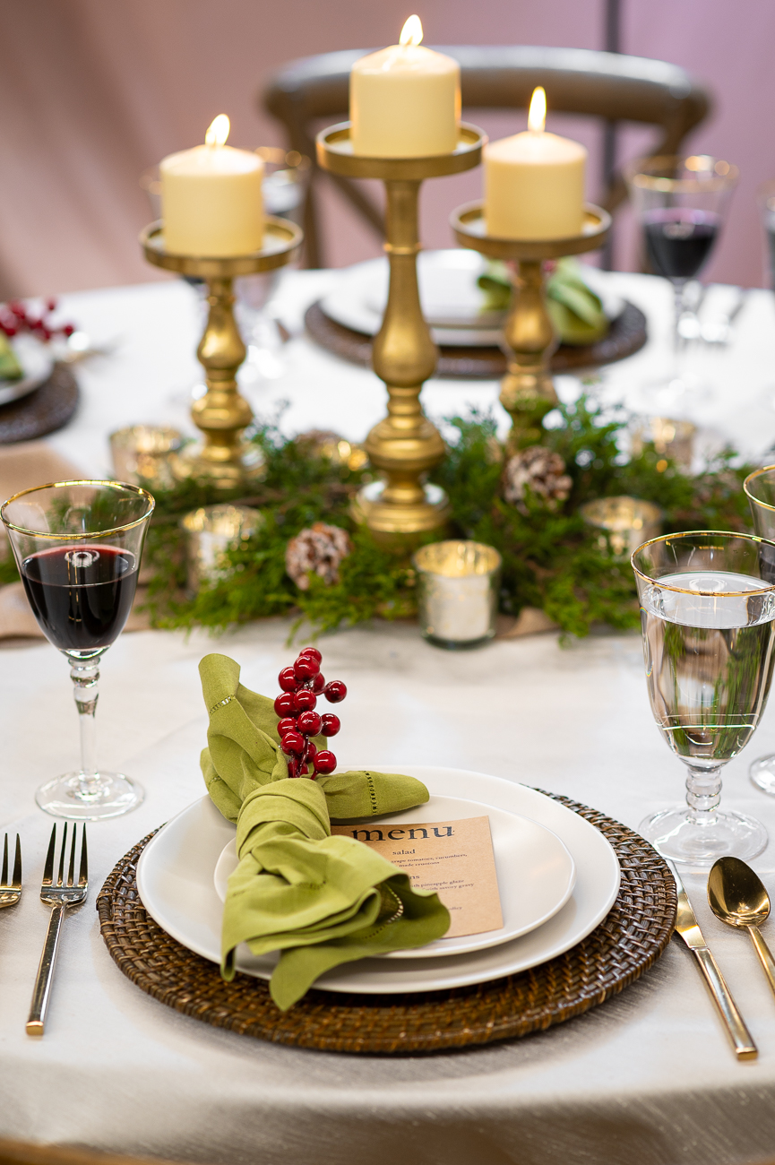 Coordinate additional linen, silverware, and other decor items through All Occasions Rental and have all of it added to your order. / Image: Phil Armstrong, Cincinnati Refined // Published: 11.6.20