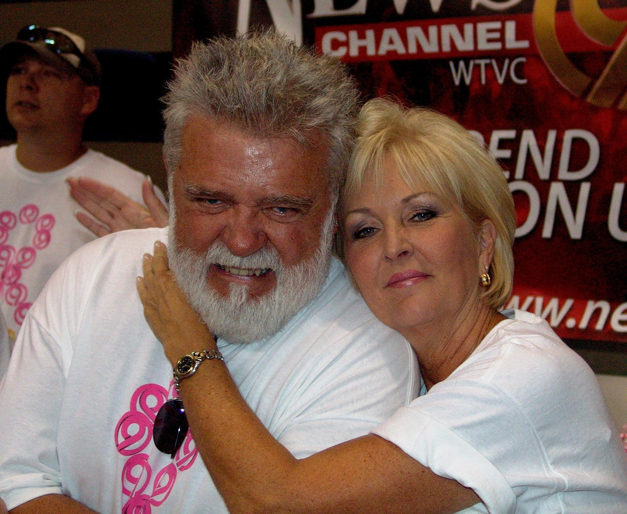 "Don & his wife Sammie at a recent ""Pink!"" fundraiser. (Image via John Creel)"