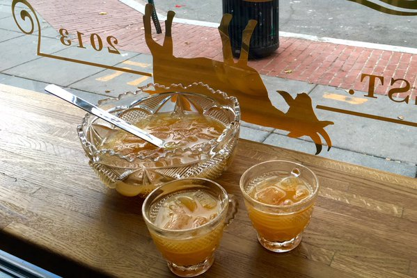 Grab a partner in crime and get bowled over at these area bars serving up super-sized sips in pitchers, porróns and even French presses. (Image: Courtesy The Fainting Goat)