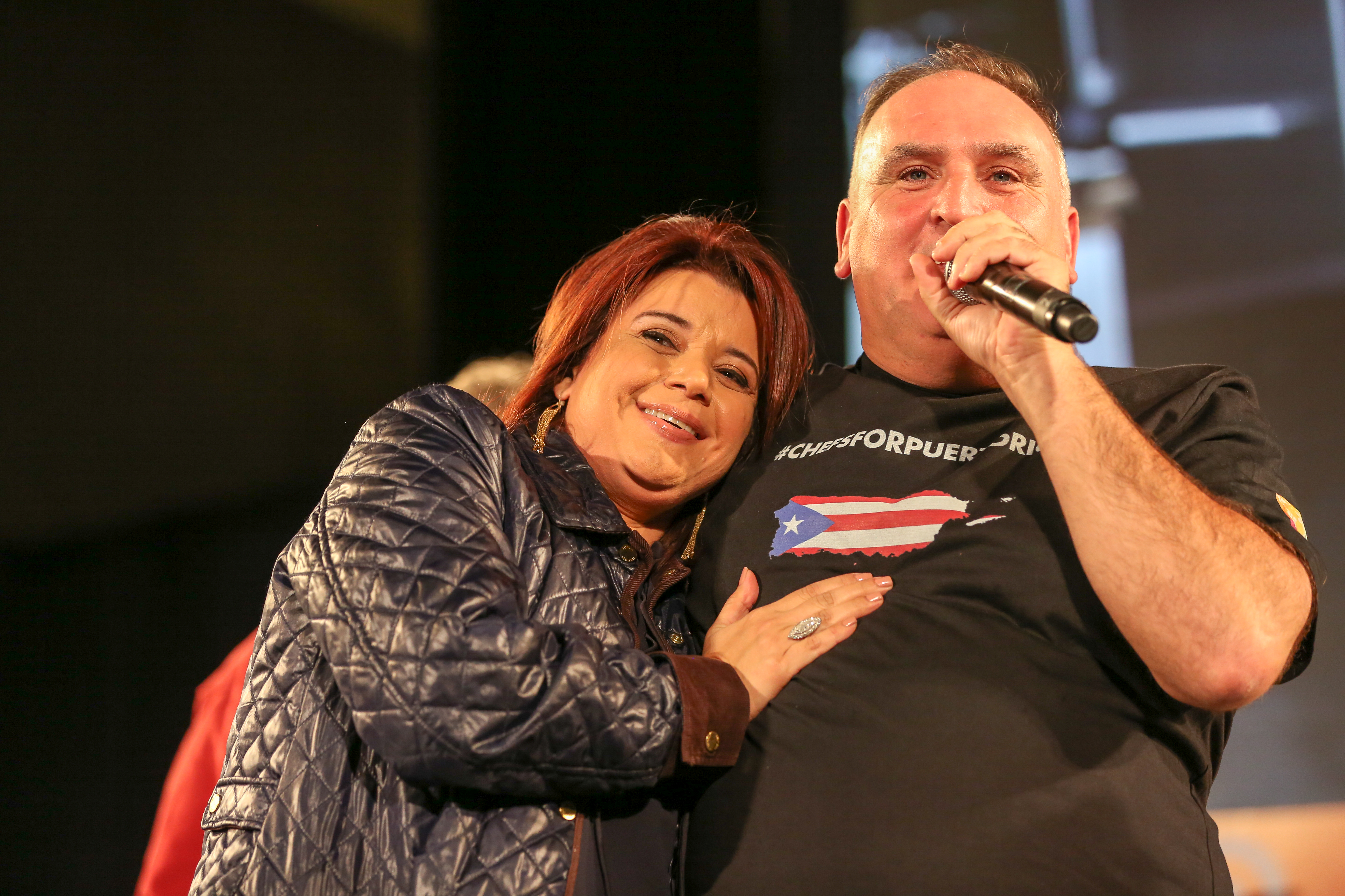Jose Andres and judge Ana Navarro. (Amanda Andrade-Rhoades/DC Refined)<p></p>