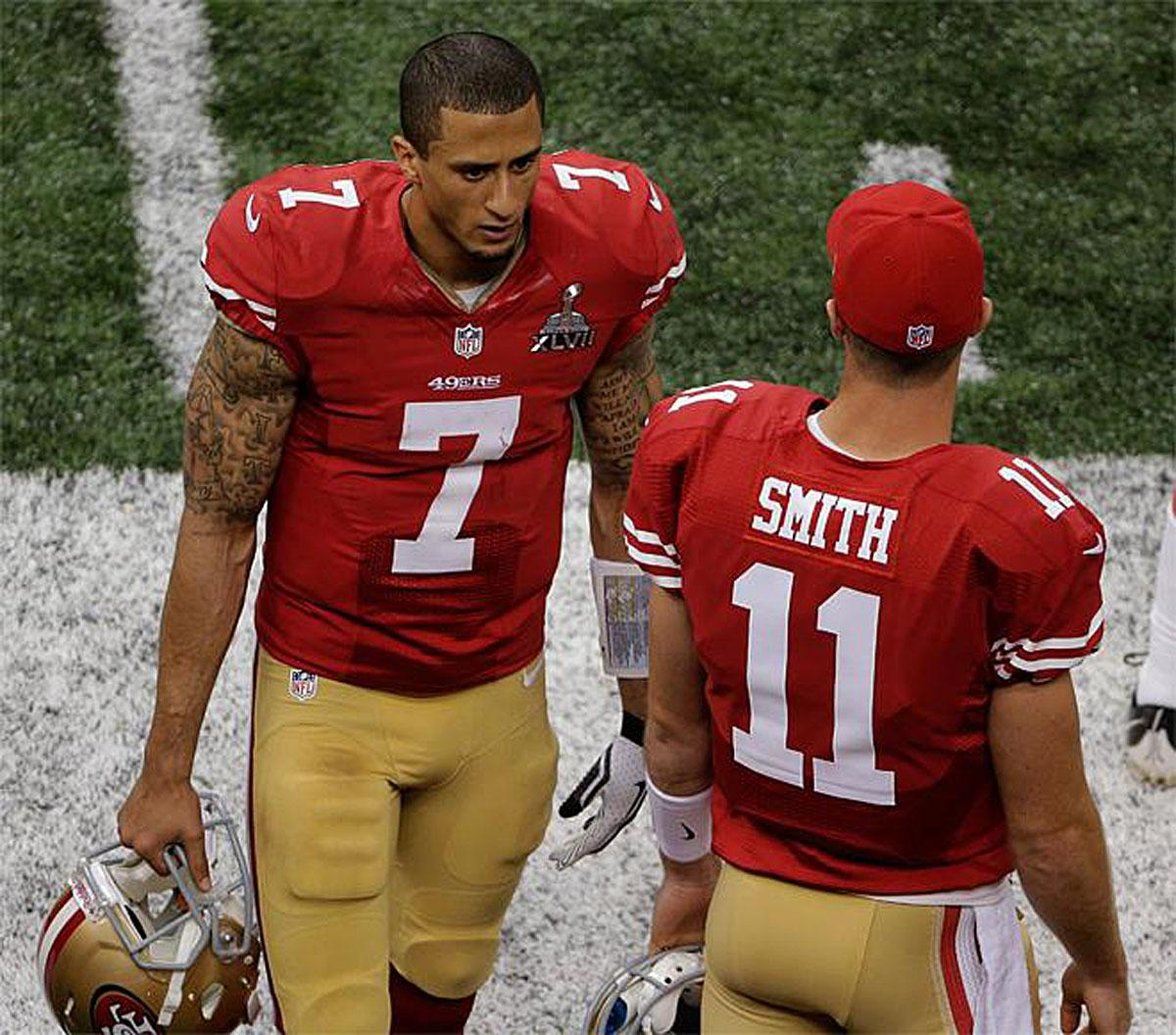 colin kaepernick and alex smith relationship