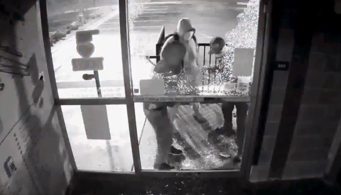 Surveillance video shows three suspects that broke into Wilshire Gun Dec. 26 and stole thousands of dollars worth of firearms. (Oklahoma City Police Department)