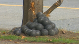 44,000 pounds of metal balls spill, bounce down West Seattle street