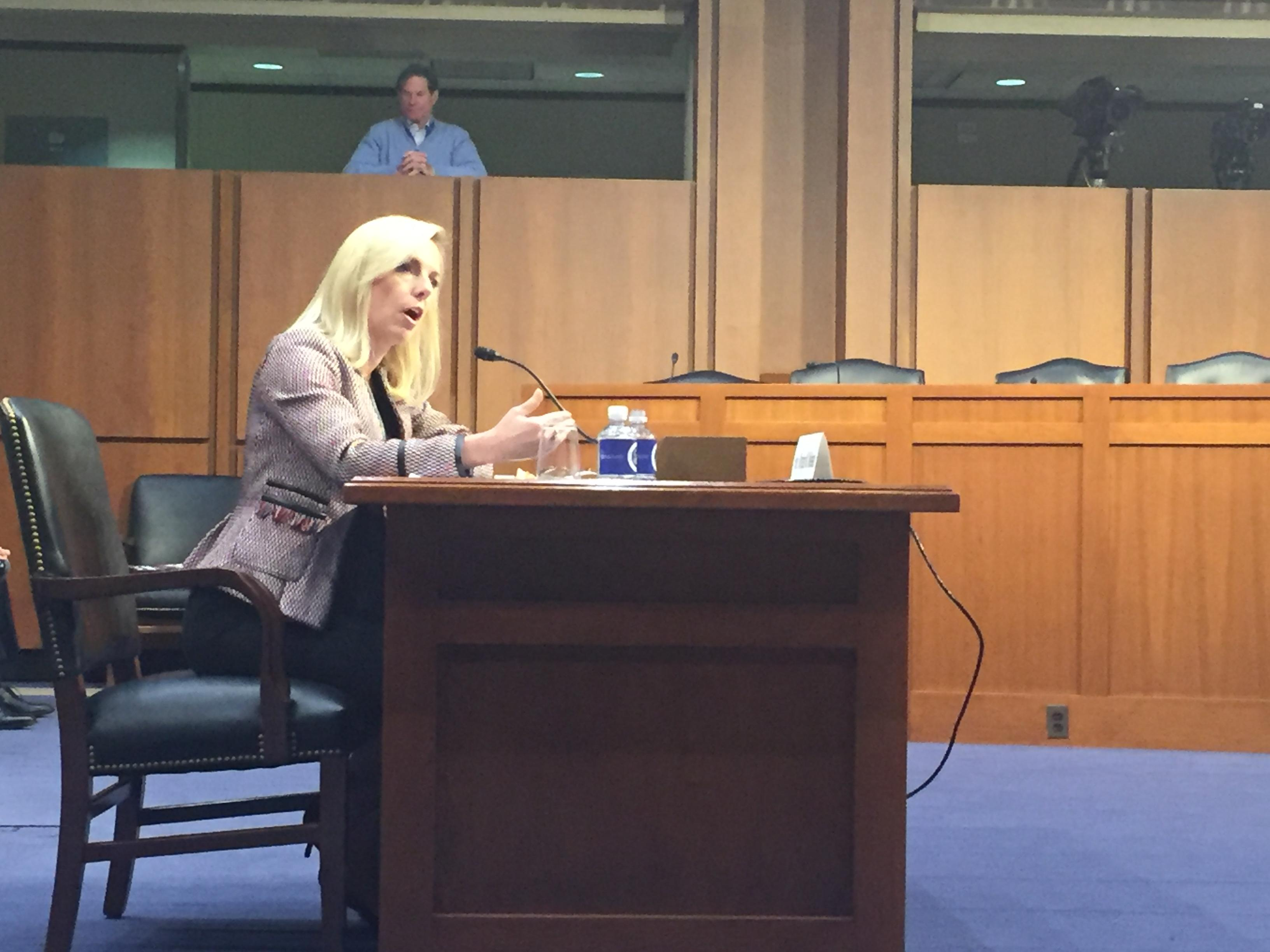 FILE: Department of Homeland Security Secretary Kirstjen Nielsen testifies before the Senate Judiciary Committee on Tuesday, January 16, 2018. (Photo: Sinclair Broadcast Group)