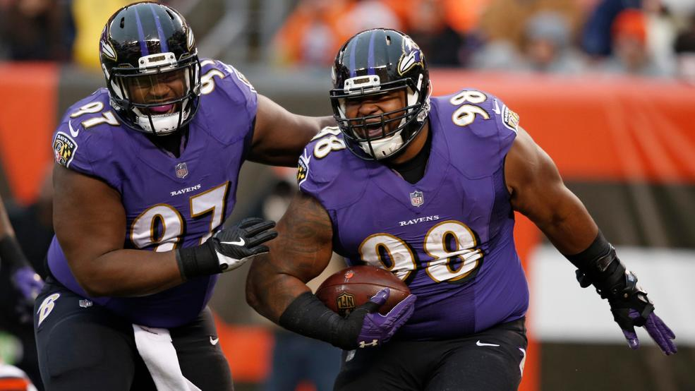 a1cc257855b ... Nike Womens Limited Baltimore Ravens Rush Fashion 98 NFL Jersey  Baltimore Ravens nose tackle Brandon Williams (98) celebrates with nose  tackle Michael ...