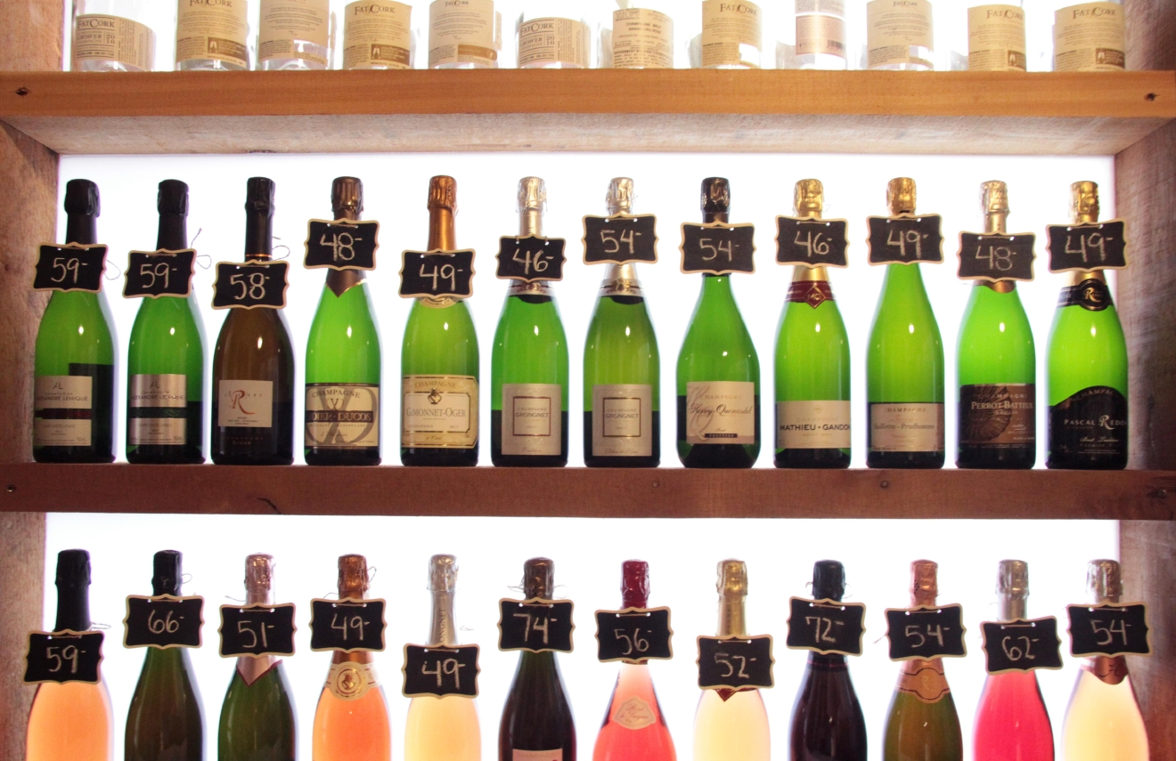A few of Fat Cork's Grower Champagne bottles. (Image: Fat Cork)
