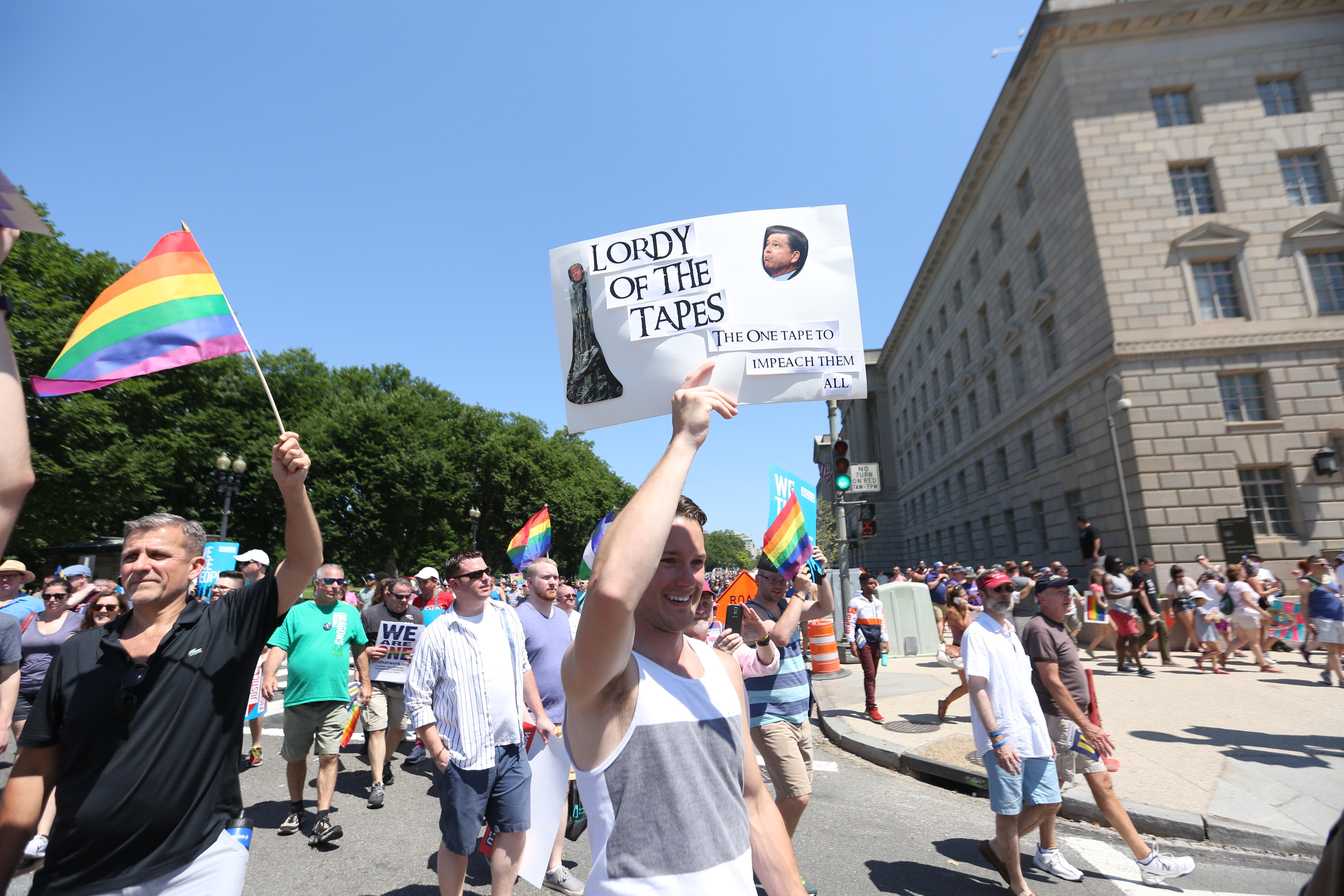 Resistance has never been so funny! Although The Equality March had a serious message about LGBT rights, the resistance has never been so funny! Here are our favorite signs from this weekend. (Amanda Andrade-Rhoades/DC Refined)