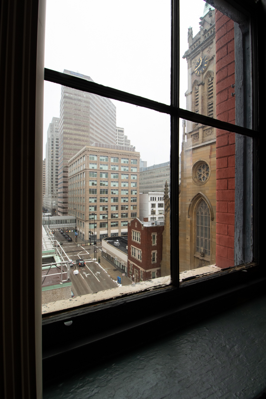 Sycamore Place features several impressive views of downtown.{ }/ Image: Ronny Salerno // Published: 2.6.19
