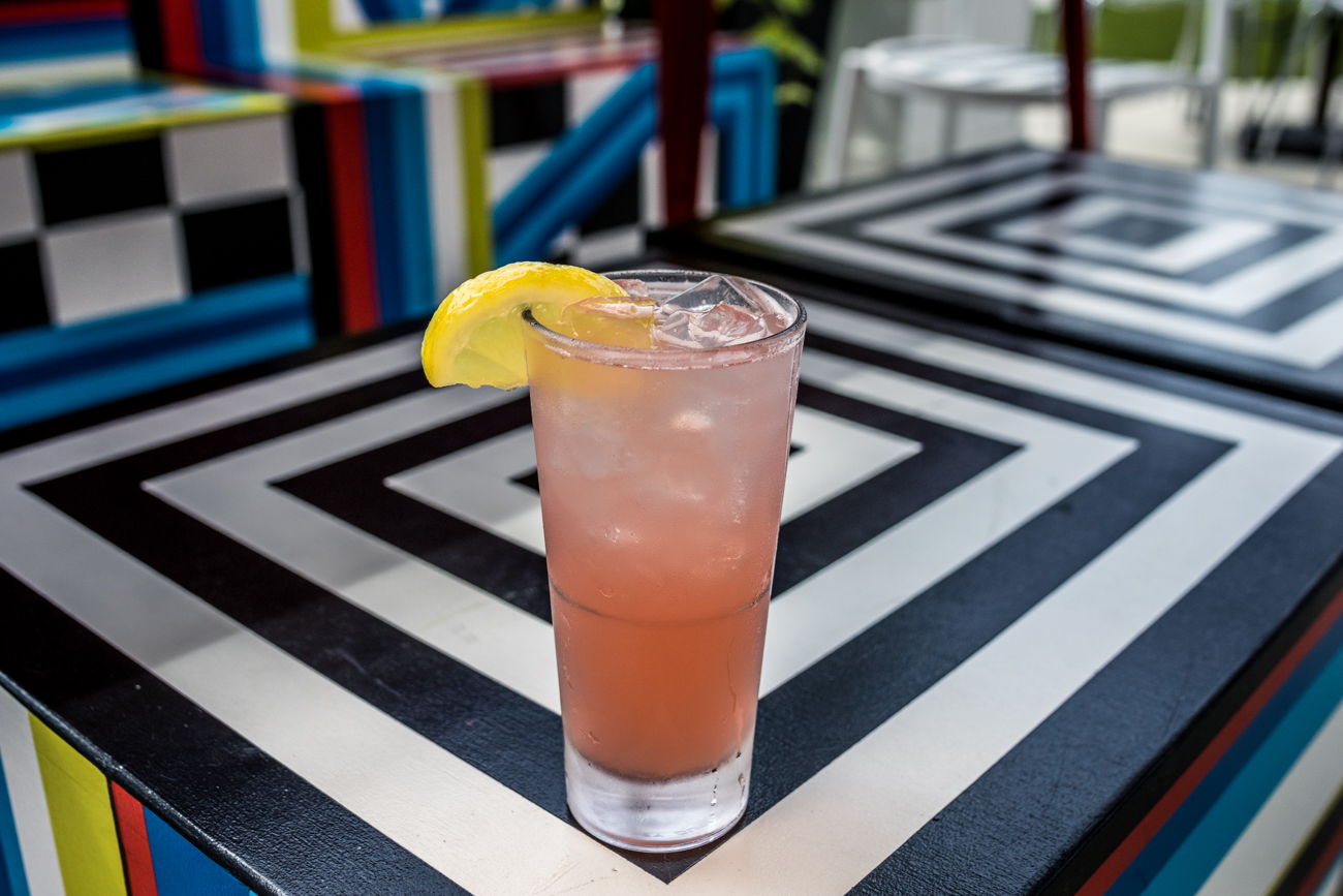 Garden Stand Lemonade: Raspberry Stoli, watermelon juice, lemonade, and soda / Image: Catherine Viox // Published: 8.2.20