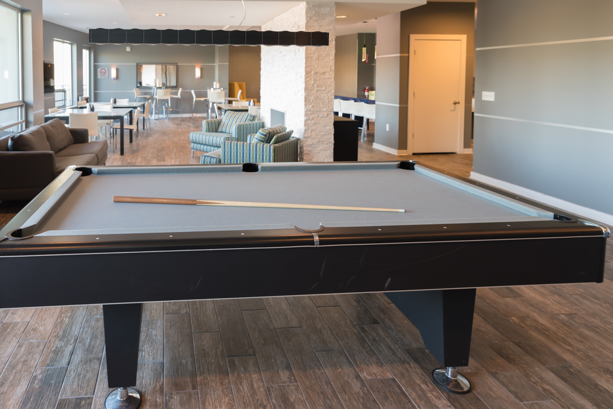 Pool and poker tables are available in the Clubhouse.{ }/ Image: Sherry Lachelle Photography // Published: 10.30.18