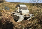Phragmites cutting machine called a Marsh Master.JPG