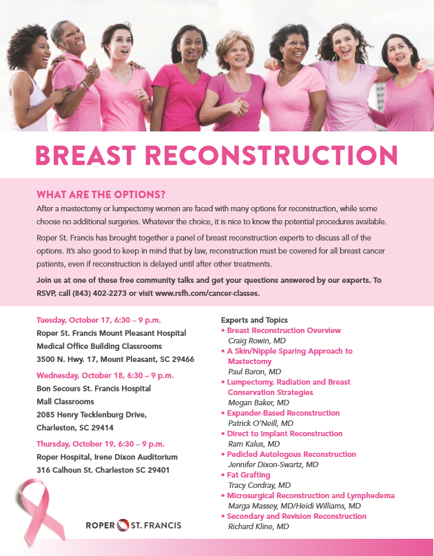 Breast cancer flyer (Roper St. Francis)