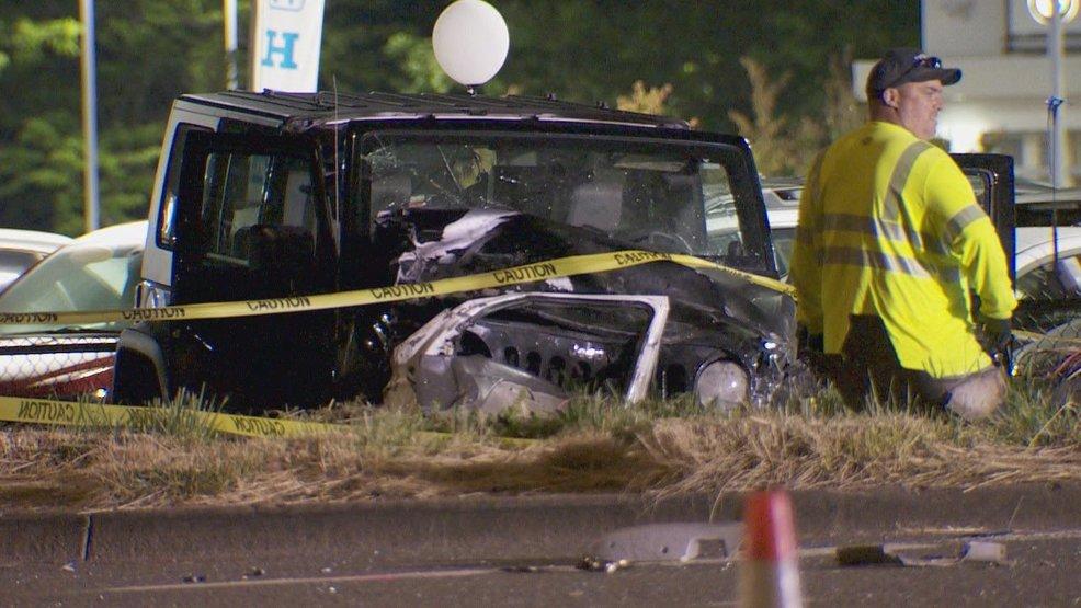 Parkway car crash