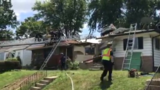 Video: SUV crashes through roof of Missouri house