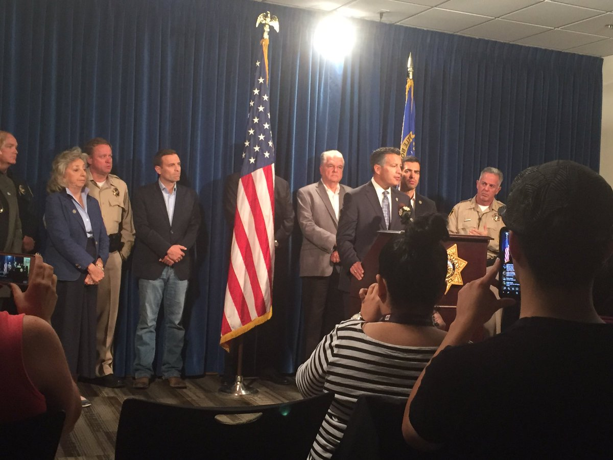 Gov. Sandoval asking everyone to stop, pause and say a prayer today (Heather Mills | KSNV)