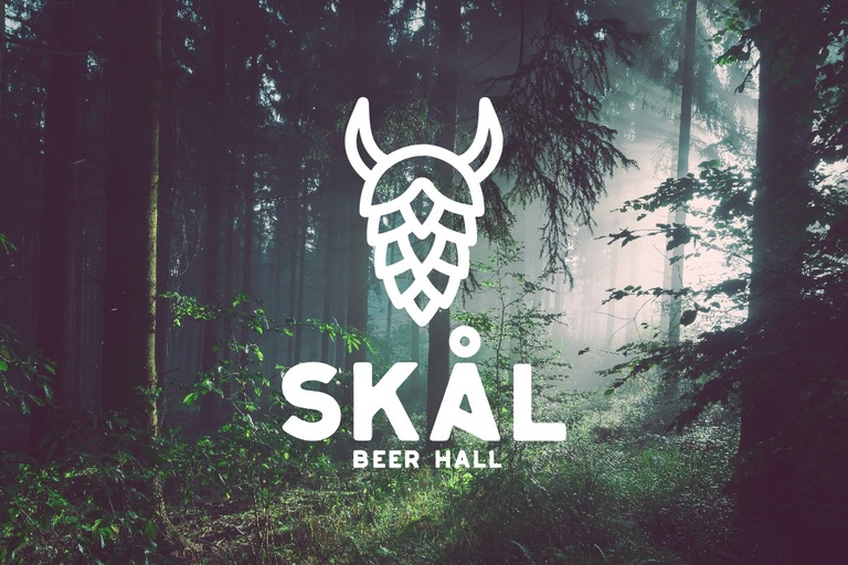 "McQueen explains a mead hall as ""the center of the community - a welcoming spot to gather or host visitors from afar. [The mead hall] was the [place] where stories of adventure, exploration, and new ideas were shared and debated over food and drink."" (Image courtesy of Skal Beer Hall)."