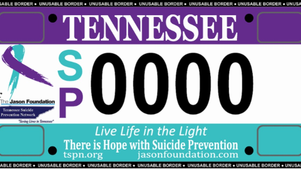 Tennessee could be first state with license plate aimed at suicide ...