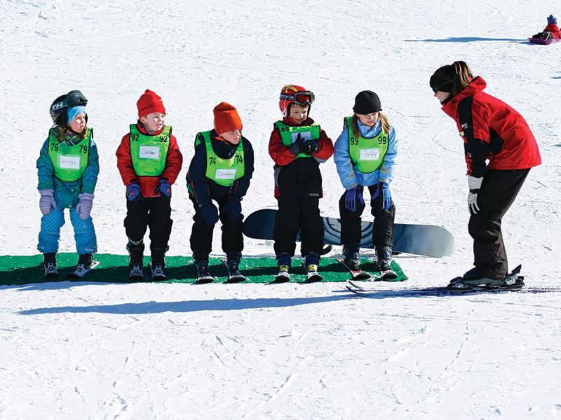 Beginners can start their mountain journey at ski school at The Omni Homestead. (Image: Courtesy The Omni Homestead)<p></p>