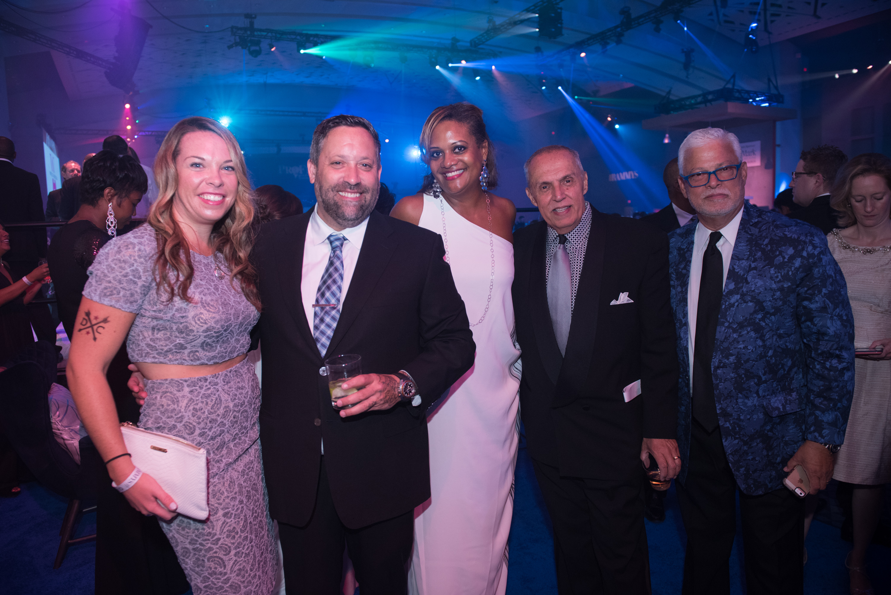 Chef Mike Isabella greeted guests at the Events DC Lounge during the 2017 RAMMY Awards Gala. From L-R: Ashley Forrester (Events DC), Chef Mike Isabella, Chinyere Hubbard (Events DC), Jay Haddock Ortiz (Events DC), and Hector Torres. (Image: Courtesy Events DC)