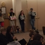 Protesters fill public meeting to address racial tensions, police contract vote
