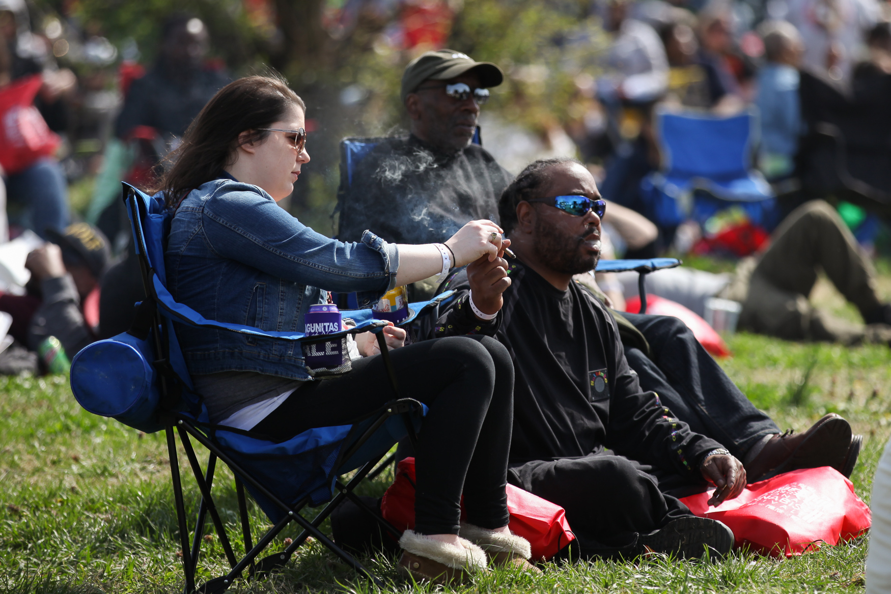 Thousands of DMV residents flocked to the{ } 3rd Annual National Cannabis Festival at RFK Stadium on April 21. The sold-out festival featured musical acts, a joint rolling competition, yoga, glass-blowing demonstrations and, of course, cannabis for both medical patients and recreational users. The festival wasn't just about celebrating 4/20 - there were voter registration booths on site and seminars on cannabis both policy and the criminal justice system.{ } Congresswoman Eleanor Holmes Norton also made an appearance to push for the legalization of all cannabis, nationwide. (Amanda Andrade-Rhoades/DC Refined)
