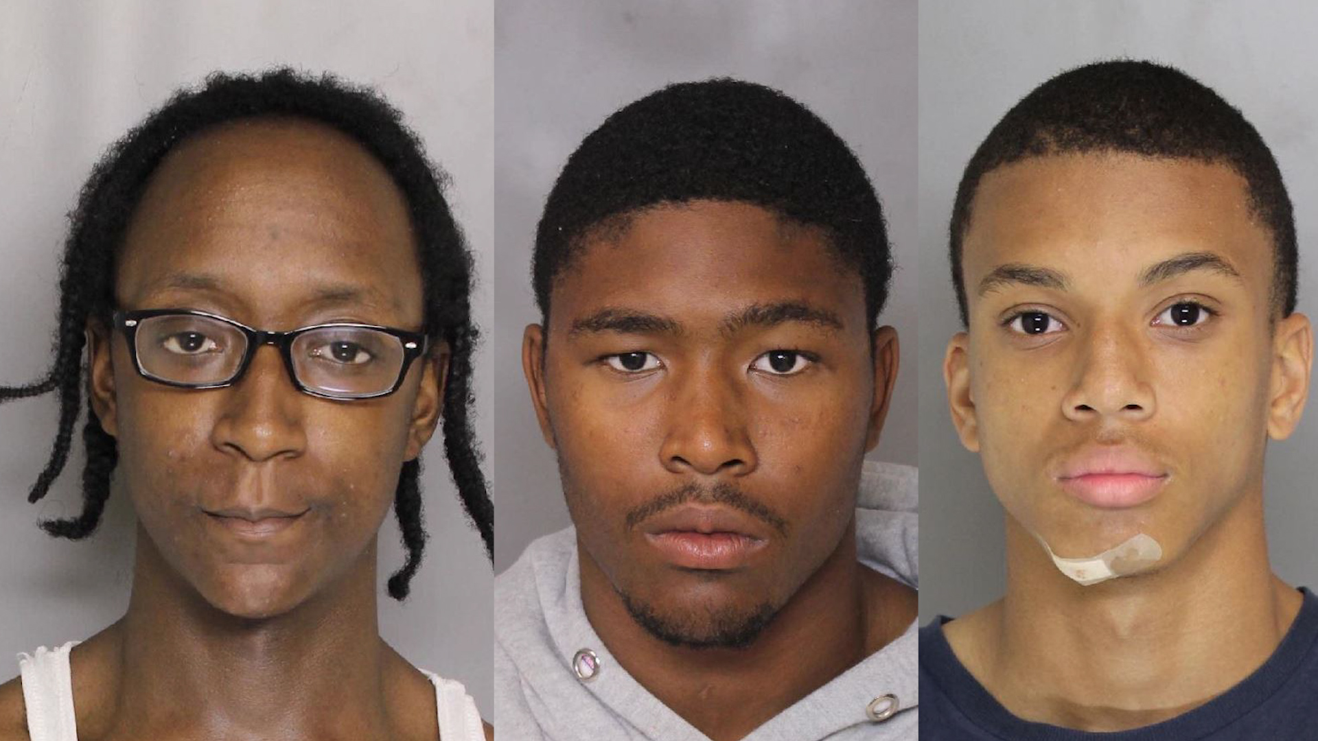 Derrick Matthews (left), Darrell Ward (center) and Eugene Genius (right). (Photo, Baltimore County Police)