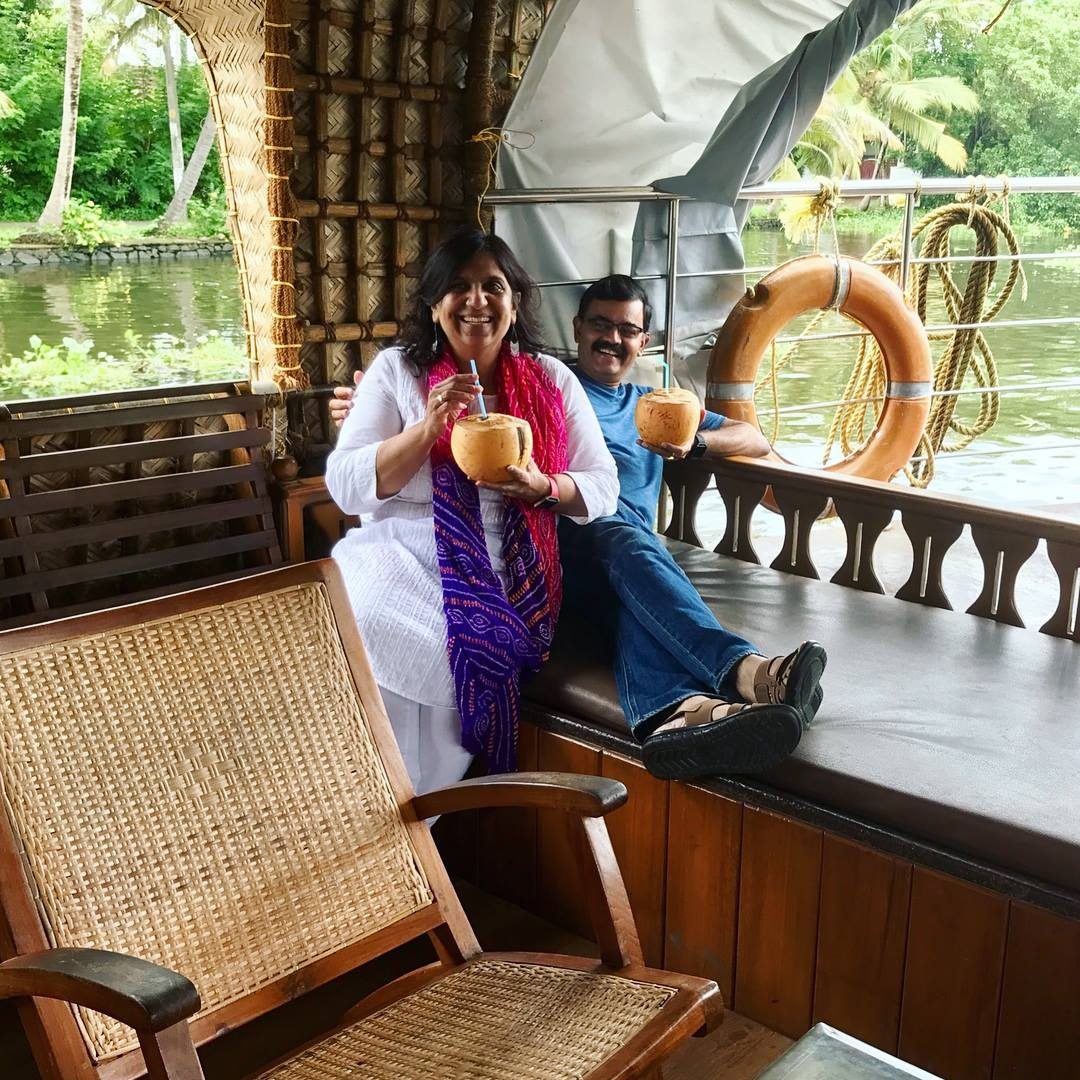 Chef K.N. Vinod known for introducing creative modern Indian cuisine to DC area diners embarked on a special trip in late June back to his hometown of Kerala - located in the far south of India - with his wife and daughter. (Image: Courtesy K.N. Vinod)