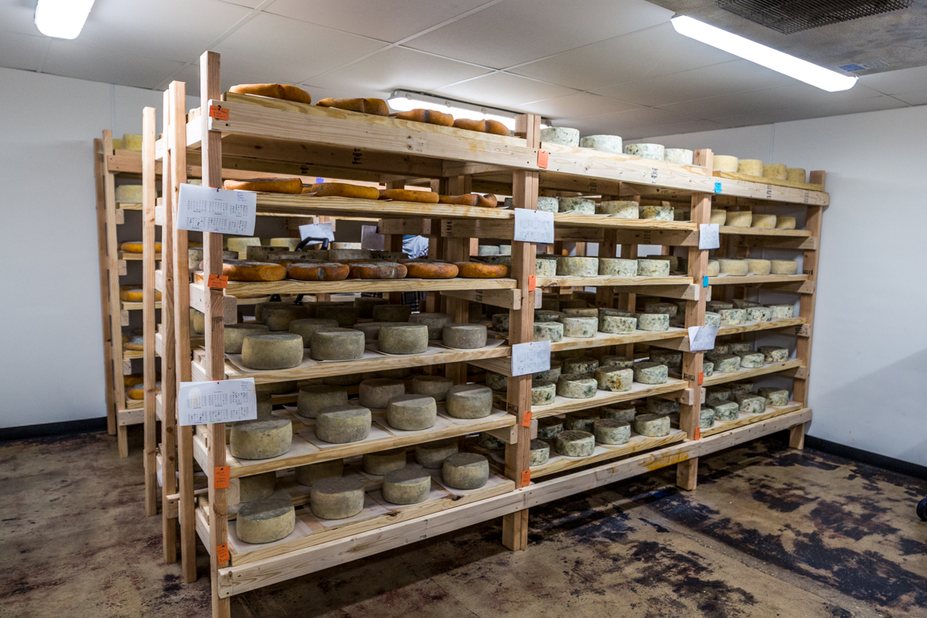 The cheese aging room / Image: Catherine Viox
