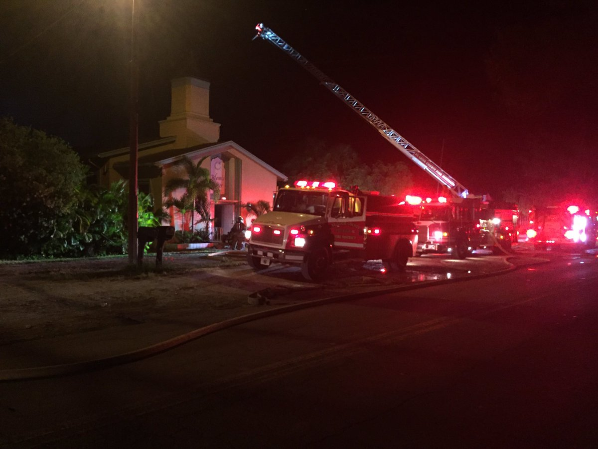 The Islamic Center of Fort Pierce destroyed by fire.  (Pics courtesy: St. Lucie County Sheriff's Office)