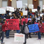 SU students protest against fraternity