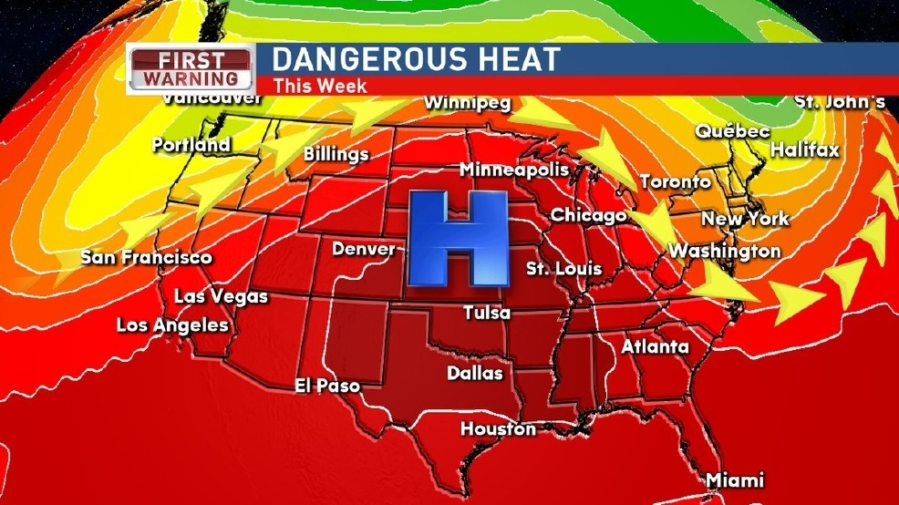 After hottest June EVER, time to crank up the AC... Plains heat wave