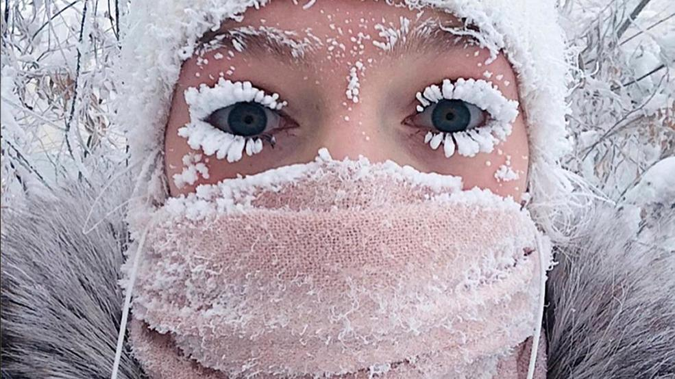 Even eyelashes freeze: Russian region hits minus 88.6 degrees F