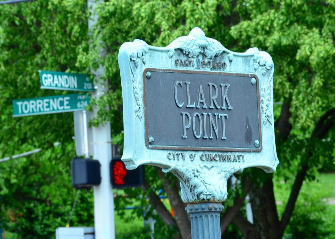 PARK: Clark Point / LOCATION: Corner of Grandin Rd. and Torrence Pkwy in O'Bryonville /  FUN FACT: It's so tiny, it only accounts for a mere 0.05 acres of land. / IMAGE: Leah Zipperstein, Cincinnati Refined // PUBLISHED: 5.8.17