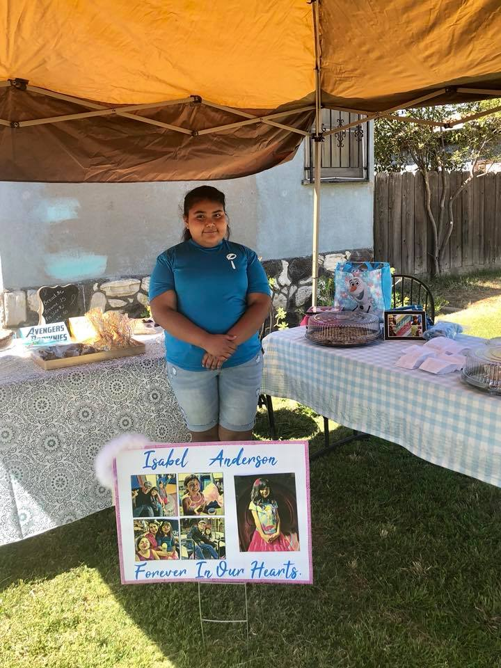 Mariah Lopez has held this bake sale to raise money for cancer research for the last three years. She does it in honor of Isabel Anderson, who passed away from a rare brain cancer known as DIPG.