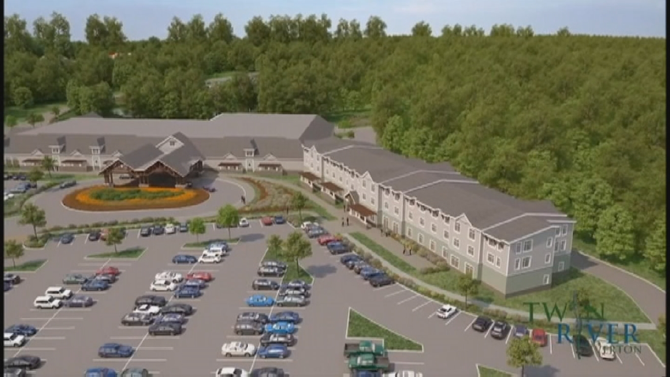 Twin River released this rendering of a proposed casino in Tiverton.